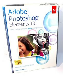 Adobe Photoshop Elements (Premiere Elements TRIAL) 10 PC and MAC OS FREE SHIP!