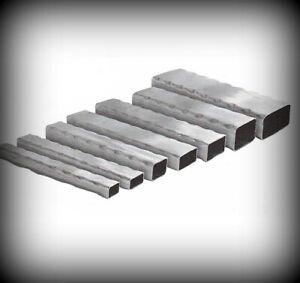 Vierkantrohr gehämmert 15 bis 100 mm Länge 2000 mm Stahlprofil Rechteckrohr Rohr