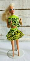 "MATTEL BARBIE Doll Blonde Hair Blue Eyes Green Outfit 12"" Tall  Used Free Ship"