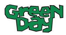 Green Day shaped vinyl sticker decal 130mm x 60mm punk