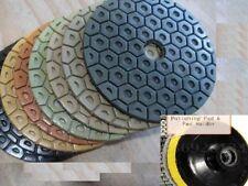 7 Inch Diamond Polishing Pads 12 PIECE & Backer Pad Granite Concrete fabrication
