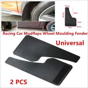Universal Racing Car SUVs Mudflaps Wheel Moulding Fender Mudguard Custom Black