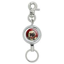 Pug Sticking Out Tongue Lanyard Belt ID Badge Key Retractable Reel Holder
