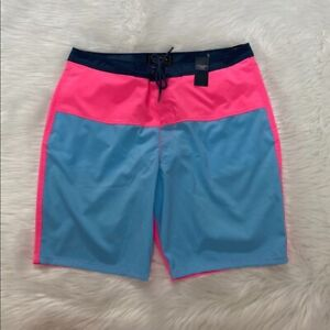 NEW wTag-ABERCROMBIE & FITCH Pink/Blue Board Shorts 38