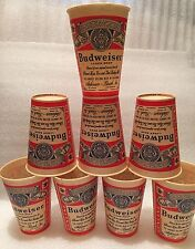 8 BUDWEISER KING OF BEERS 12oz PAPER COLD CUPS Unused Vintage