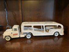SUPER CLEAN 1950'S TAN BUDDY L FORD TRUCK CAR CARRIER TRANSPORT HAULER. 10298