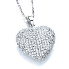 J Jaz Nicci Argento Sterling a forma di cuore zircone cubico pietre