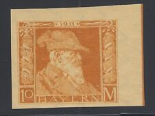 Bavaria Sc 90a MNH. 1911 10m Prince, sheet corner single XF