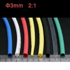 2:1 Ratio Φ3mm Heat Shrinkable Tube Shrinkage Tubes Heat Shrink Tubing ROHS