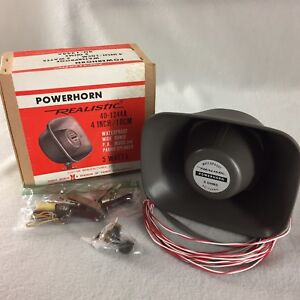 """Radioshack Realistic 40-1244A Powerhorn 4"""" Waterproof Speaker 5 Watts 8 Ohms"""