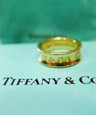 Auténtico 1997 Tiffany & Co 18k Oro Amarillo 1837 Talla Del Anillo 5