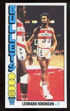 1976-77 Topps #104 Leonard Robinson Bullets Carte NBA Basketball