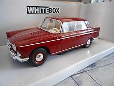 PEUGEOT 404 Limousine red rot 1960 White Box Fabbri 1:24