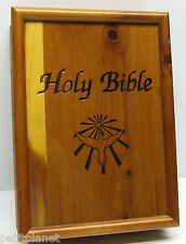 HOLY BIBLE, CATHOLIC 3RD NEW AMERICAN EDITION 1991 IN CEDAR KEEP SAKE BOX