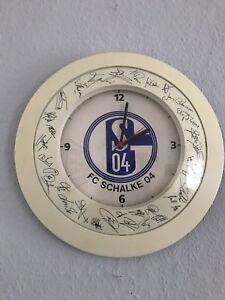 FC Schalke Wanduhr-Autogramme 37 cm