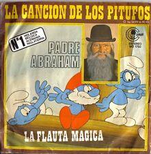 """PADRE ABRAHAM: La Cancion de los Pitufos  Single Vinyl 7"""" - Made in Spain 1978 -"""