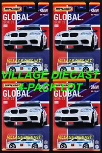 2021 Matchbox Global Series #12 BMW M5 WHITE / RUSSIA / 4-PACK LOT / MOC