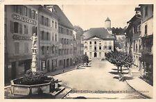B93059 porrentruy la fontaine du suisse te la banque cantonale switzerland