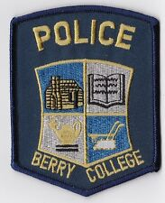 Berry College Police Patch Georgia GA NEW!!