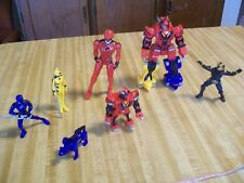 Lot of 7 Small BANDAI Plastic Collectible Action Figures/ Figurines, 2007/8; TOY