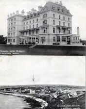 A Pair Of Antique Original Postcards Falmouth Hotel Falmouth C. Duplessy Manager