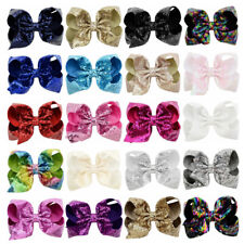 819d79ab3bf39 8 Inch JOJO Sequin Hair Pin Bow Clip Lovely Baby Hair Clip for Children