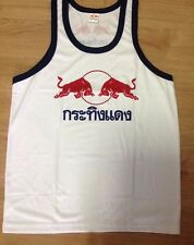 Kra Ting Dang Men Sleeveless T-shirt/ Tank With Thai Red Bull Print Size L