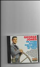 "GEORGE JONES, CD ""WE FOUND HEAVEN RIGHT HERE ON EARTH AT 4033"" NEW SEALED"