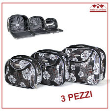 SET 3 PZ BEAUTY CASE DA VIAGGIO MAKE UP COSMETICI