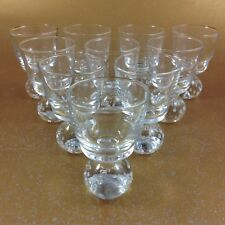 10 MCM Bubble Glass PAPERWEIGHT Base Cordial Glasses Carl Erickson Excellent!