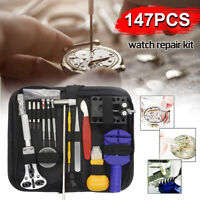 16/147 Pcs Watch Repair Tool Kit Link Remover Spring Bar Tool Case Opener Set