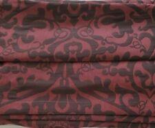 JC Penney Lined Damask Scroll Fabric Roman Shade Claret Burgundy 23 x 64 NIB