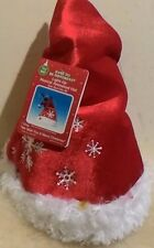 NEW Bright Red Christmas Holiday Light-Up Musical Animated Dancing Santa  Hat