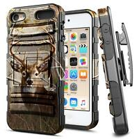 iPod Touch 5th 6th Gen Case   Rugged Shockproof Cover Holster Clip Kickstand