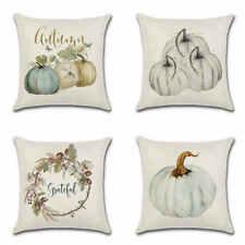US Fall Thanksgiving Watercolor Pumpkin Art Cushion Cover Pillow Case Home Decor