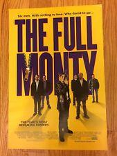 THE FULL MONTY 1997 Yellow Purple Carlyle Movie Print RARE MINI Poster 13x20