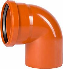 KG-Rohr Bogen Kanalrohr DN 125 87 Grad PVC-U