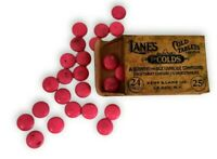 Vintage Lane's Laxative Cold Tablets 1932 Box with Original Contents, Insert