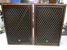 Vintage Sansui SP50 2 Way Mid Size HIFI Wood Lattice Speakers,good condition