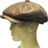 Bakerboy Hat Gatsby Peaky Blinder Blue Newsboy Flat Cap Check Baker Boy Men