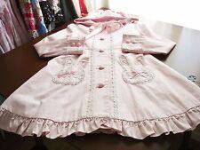 Maxicimam MAM Sweet Lolita Pink Bunny Ears Spring/Autumn Lightweight Coat NWT(?)