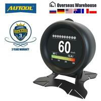X60 Car HUD Digital Smart Turbo Boost Pressure Oil Water Temperature Meter Gauge