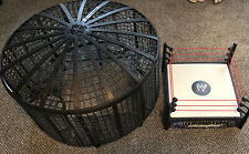 WWE elimination chamber and ring. No Parts Missing, Unlike Some!