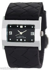 Kenneth Cole Reaction Womens Black Dial Black Leather Strap Watch RK2139