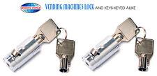 2-Dixie Narco, Vendo, Pepsi Soda machine Vending Lock and Keys-Free Shipping