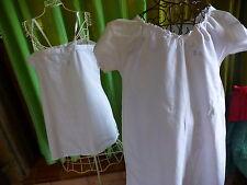 lot 2piéces ,nuisette ancienne et chemise de nuit T3 ET BRODéES MAIN