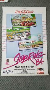 1984 Sebring Race Poster Excellent Condition Corvette Ferrari Porsche MINT