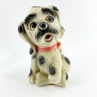 Vintage 1961 Silvestri Bros. Chalk Ware Puppy Dog BankPiggy Bank USA Chalkware
