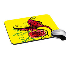 """Butterfly Digitally Printed Mouse Pad Anti-Skid Mat 7.2x8"""" Inches"""