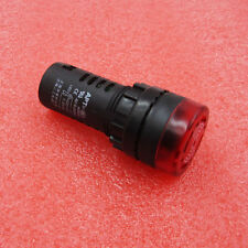 Red LED Flash Alarm Indicator Signal Lamp with Buzzer 110V AD16-22SM MF